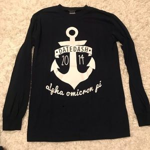 Tops - Alpha Omicron Pi (AOII) Date Dash Anchor Long Tee